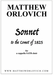 Score sample – Sonnet to the Comet of 1825 (Title Page).