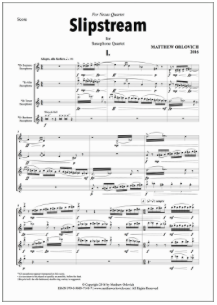 Score sample: Slipstream (for Saxophone Quartet) – Page 1