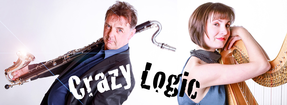 Duo Imaginaire play Crazy Logic (for bass clarinet & harp)