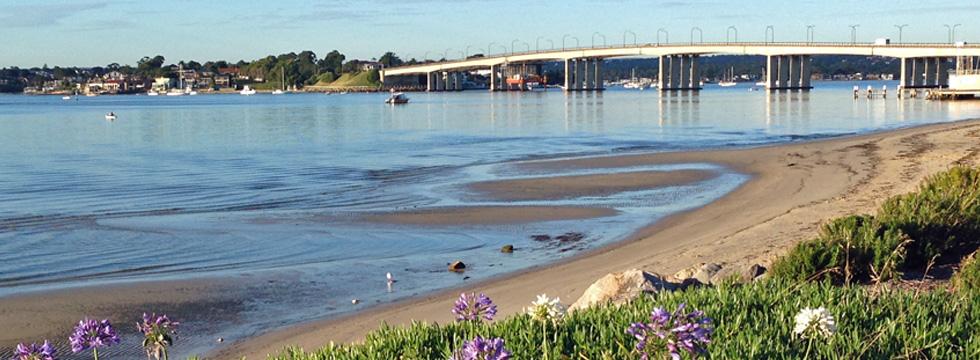 Georges River, Sans Souci, NSW, Australia.