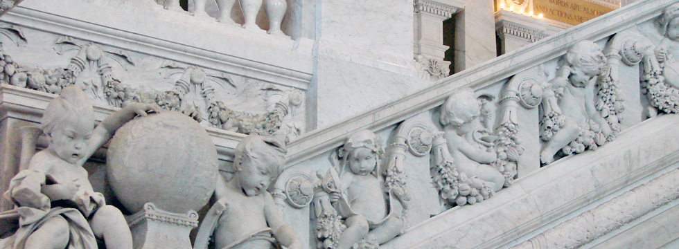 Staircase, Library of Congress, Washington DC, USA.